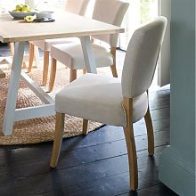 Upholstered Dining Chair - Stone