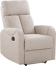 Upholstered Fabric Recliner Chair White LED Lights