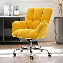 Upholstered Swivel Chair,Modern Style Mid-Back