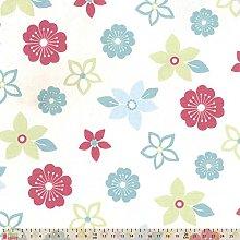 Upholstery/Curtain Fabric - Flower Power - Duck