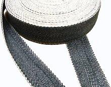 Upholstery Web Stretcher & 33m Black & White