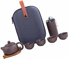 UPKOCH 1 Set Travel Ceramic Tea Set Portable