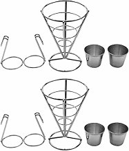 UPKOCH 2 Sets French Fry Stand Cone Basket French