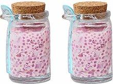 UPKOCH 2Pcs Clear Glass Jam Jars Yogurt Pudding
