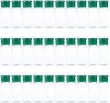 UPKOCH 30Pcs Plastic Spice Jars Seasoning Bottles