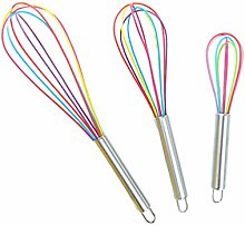 UPKOCH 3pcs Kitchen Whisk Stainless Steel Balloon