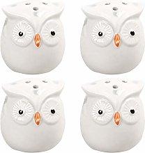 UPKOCH 4pcs Ceramic Seasoning Pots Owl Shaped