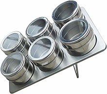 UPKOCH 6pcs Magnetic Spice Tins Stainless Steel