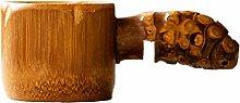 UPKOCH Bamboo Fine Mesh Strainer Colander Wooden