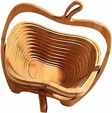 UPKOCH Bamboo Fruit Basket Folding Collapsible