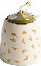 UPKOCH Ceramic Condiment Jar Hand-Painted