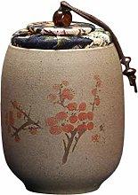 UPKOCH Chinese Ceramic Tea Canister Plum Blossom