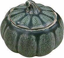 UPKOCH Chinese Ceramic Tea Canister Pumpkin Shape