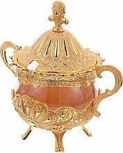 UPKOCH Decorative Candy Jar Glass Apothecary Jars
