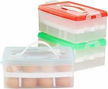UPKOCH Double-Layers Egg Storage Container 24 Eggs