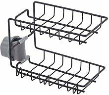 UPKOCH Faucet Drain Rack Double Layer Sink Caddy