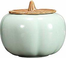 UPKOCH Food Storage Jar Pumpkin Shape Sugar Jar