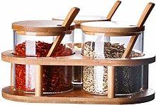 UPKOCH Glass Condiment Container Seasoning Box