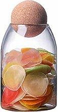 UPKOCH Glass Food Storage jar Transparent