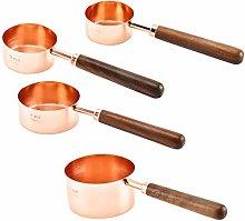 UPKOCH Measuring Cups Set Stainless Steel Copper