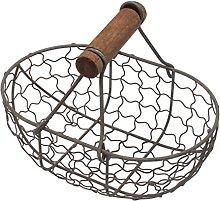 UPKOCH Metal Mesh Wire Egg Storage Basket with