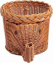 UPKOCH Natural Wicker Basket Hand Woven Storage