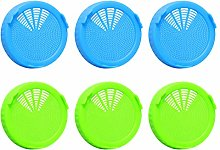 UPKOCH Plastic Sprouting Lids Reusable Wide Mouth