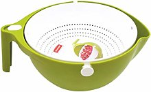UPKOCH Rice Vegetable Wash Bowl Double Layer Rice