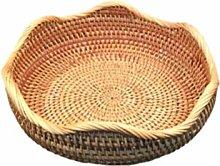 UPKOCH Round Rattan Fruit Basket Woven Wicker Food
