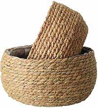 UPKOCH Seagrass Woven Planter Basket Flower Pot