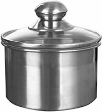 UPKOCH Stainless Steel Canister Set with Glass Lid