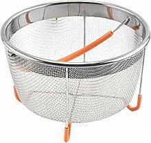 UPKOCH Stainless Steel Steamer Basket Mesh