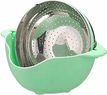 UPKOCH Vegetable Wash Basket Thickened Double