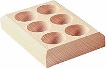 UPKOCH Wooden Egg Holder Tray 6 Grids Refrigerator