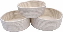 UPKOCH Woven Basket Set Small Storage Cotton Rope