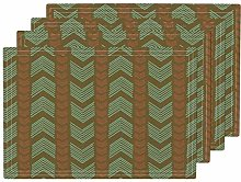 UPNOW Boho Arrows Heat Resistant Placemat Tribal