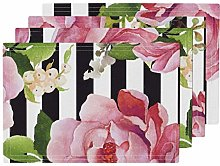 UPNOW Roses Heat Resistant Placemat Roses Vertical