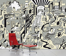 Upper West Side Panoramic Wallpaper - 8 panels by