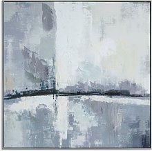Urban City Skyline - Abstract Framed Canvas Print,