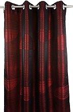Urban Echo Curtain, Polyester, Red, 250 x 140 cm