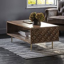Urbino Coffee Table In Nutty Brown With Brushed