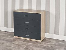 URBNLIVING 4 Or 5 Drawer Wooden Bedroom Chest