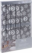 URBNLIVING Large Grey Table Runner and Place Mat