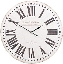 URBNLIVING Shabby Chic Large 60cm Wall Clock