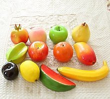 URGrace 12Pcs Different Kinds Of Plastic Fruit