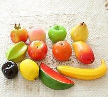 URGrace 12Pcs Different Kinds Of Plastic Fruit