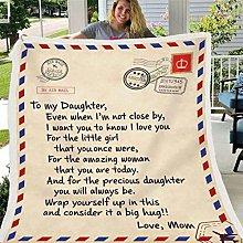 Urijk Blanket Fleece Plaid Letter English To My