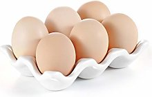URWOOW Cup Egg Tray Holder (White)