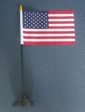USA Country Desk Table Top Flag