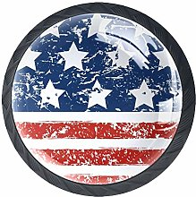 USA Flag Independence Day Cabinet Door Knobs